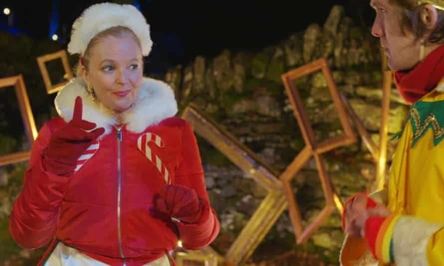 Jingle bells … Clare Grogan as Mrs Claus with Ali Watt in Pitlochry Festival theatre's show.