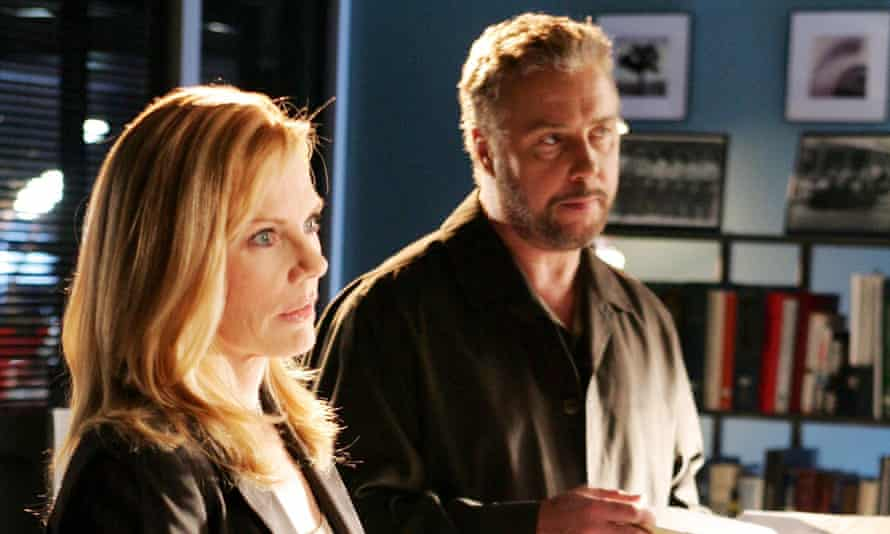 Marg Helgenberger and William Petersen in 2006.