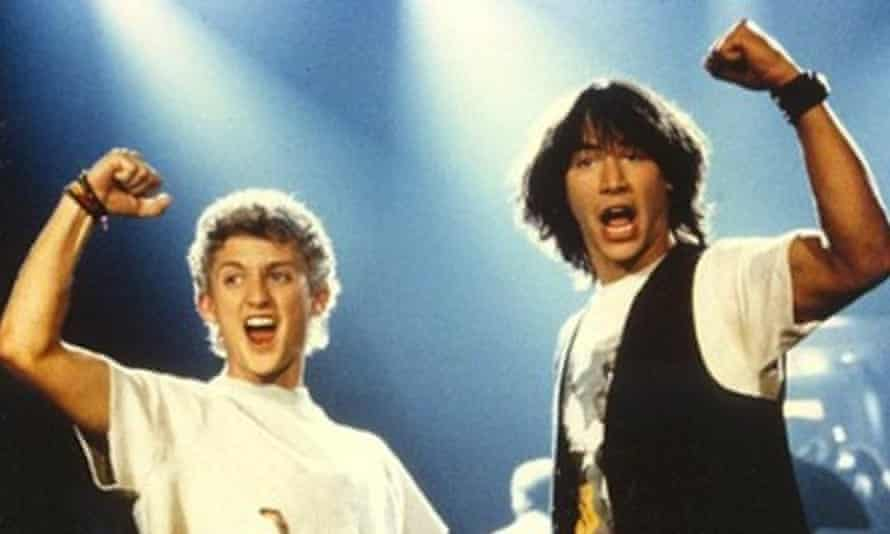 'Puppy factor' … Alex Winter, left, and Keanu Reeves in Bill & Ted's Excellent Adventure.