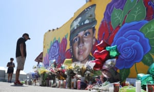 A mural of Vanessa Guillén painted on a wall on the south side of Fort Worth.