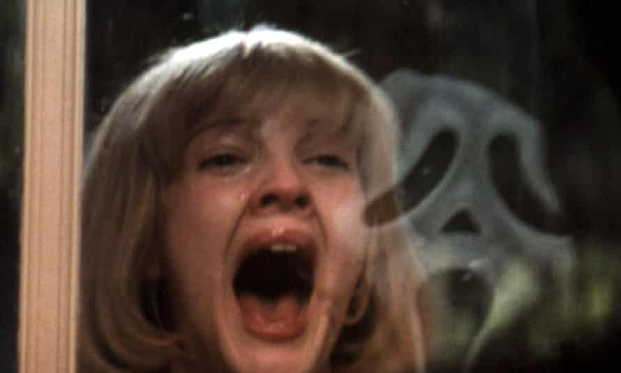 Drew Barrymore in Wes Craven's 1996 comeback, Scream.