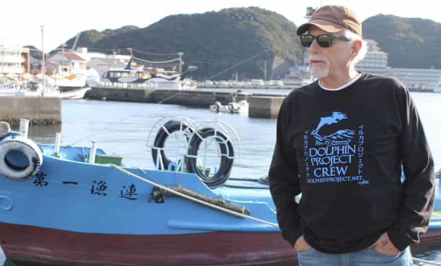 Ric O'Barry at Taiji harbour in September 2015