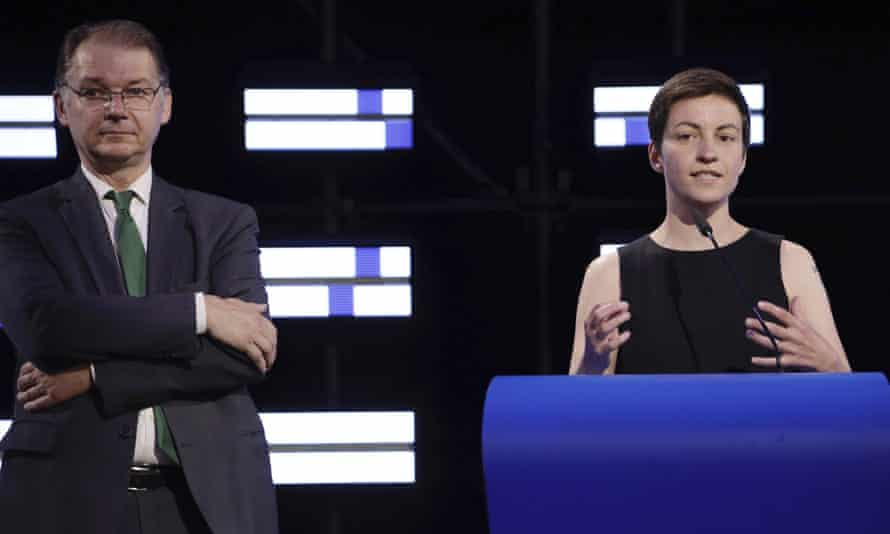 The Greens' Philippe Lamberts (left) and Ska Keller