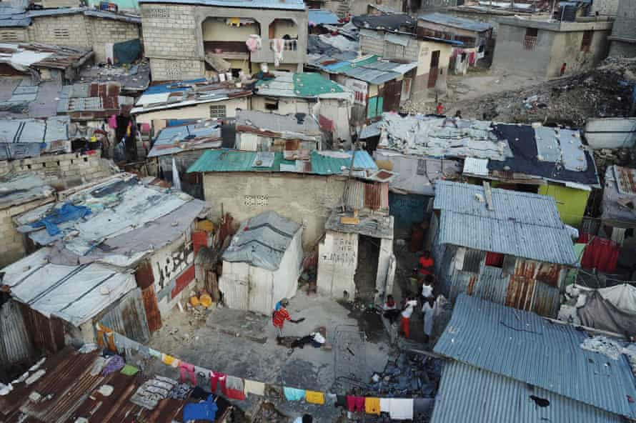 Shacks in the Fort National district of Port-au-Prince. Nearly two-thirds of the population lives in poverty.