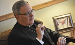 Bishop Thomas Tobin said: 'It certainly was not my intention, but I understand why a good number of individuals have taken offense.'