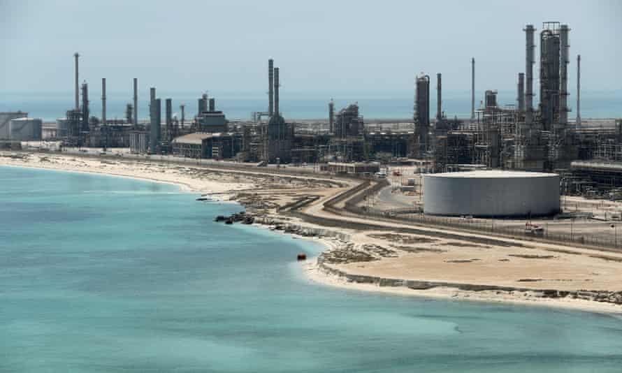 Saudi Aramco's Ras Tanura oil refinery and terminal.