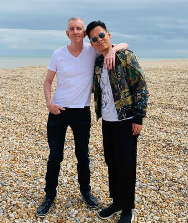 Patrick and Richard on the Kent coast in 2019