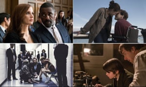 Jessica Chastain and Idris Elba in Molly's Game, Jake Gyllenhaal and Tatiana Maslavy in Stronger, Benedict Cumberbatch in The Current War and Margot Robbie in I, Tonya.