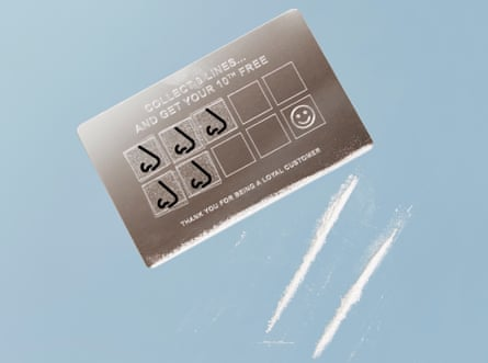 Constructed image of a cocaine loyalty card