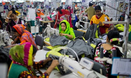 Workers at a garment factory near Dhaka, Bangladesh.