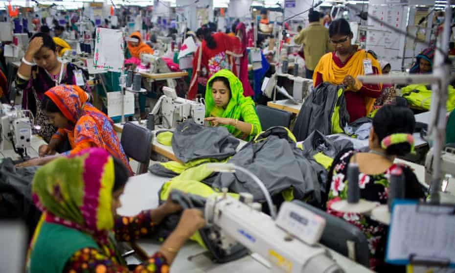 Workers at a garment factory near Dhaka, Bangladesh.
