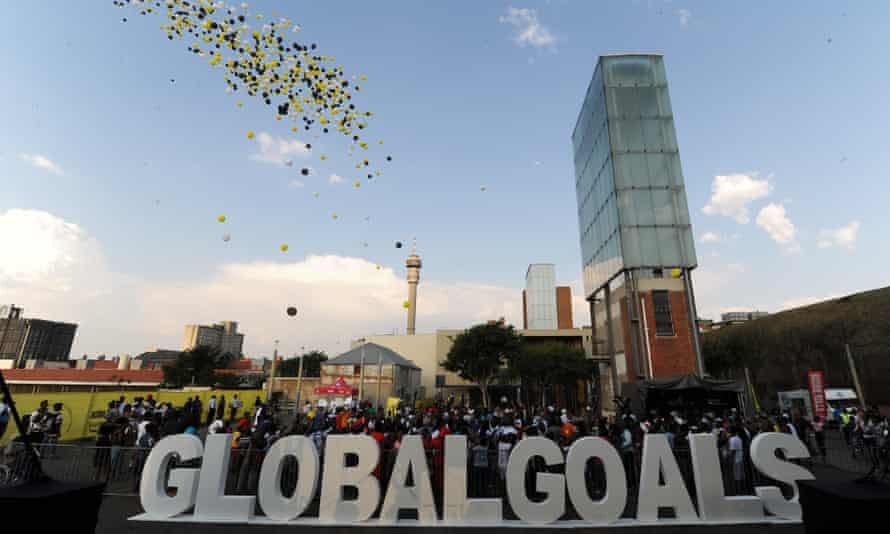People gather in Johannesburg for the Action 2015 global mobilisation event