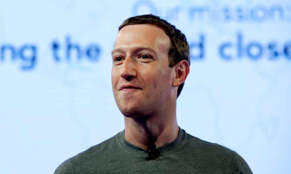 Mark Zuckerberg, the CEO of Facebook