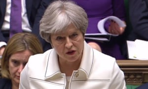 British Prime minister Theresa May makes a statement to MPs and fields questions following air strikes in Syria over the weekend.