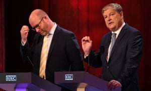 Angus Robertson, right, with Ukip leader Paul Nuttall during the BBC's election debate last week.