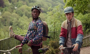 Ncuti Gatwa (left) as Eric and Asa Butterfield as Otis in Netflix show Sex Education