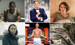 And the gong for services to television goes to … (top row) Black Mirror, Ed Balls, Fleabag; (bottom row) Keeley Hawes, Gary Lineker and those snakes.