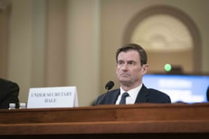 David Hale, undersecretary of state, testifies before the House intelligence committee.