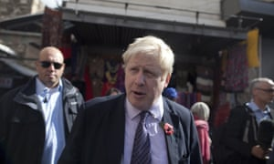 Boris Johnson visiting the Church of the Holy Sepulchre in Jerusalem's Old City on Wednesday.