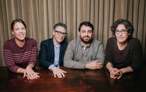 The S-Town team. L-R: Julie Snyder, Ira Glass, Brian Reed and Sarah Koenig.