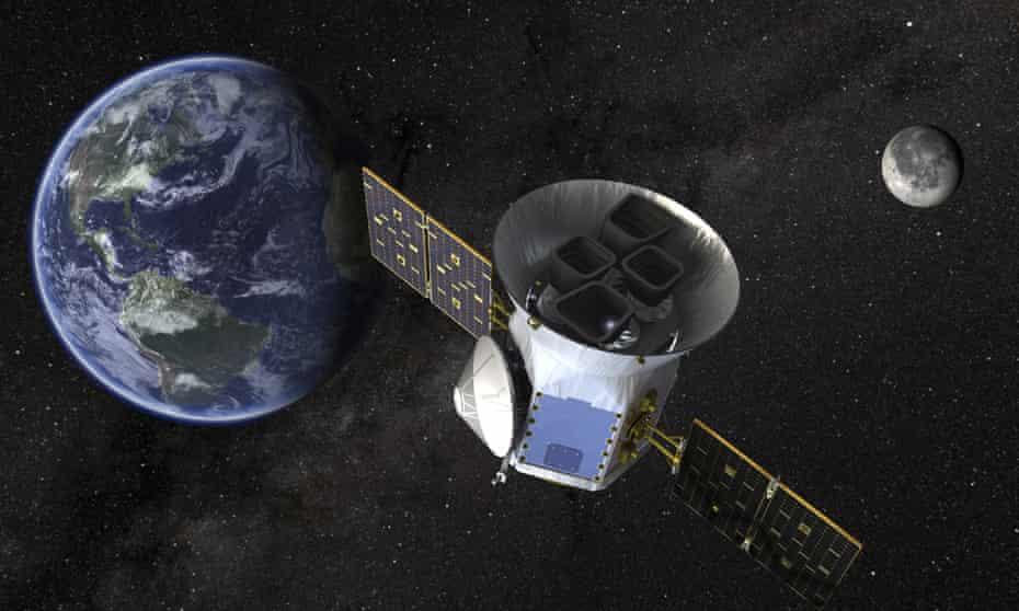 A Nasa illustration of the Transiting Exoplanet Survey Satellite (Tess).