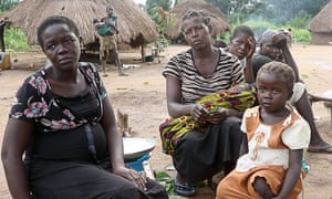 A group of villagers from Birisi, near Yambio, the capital of Western Equatoria state, South Sudan