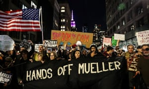 Thousands marched on Thursday demanding protection for the Mueller investigation.