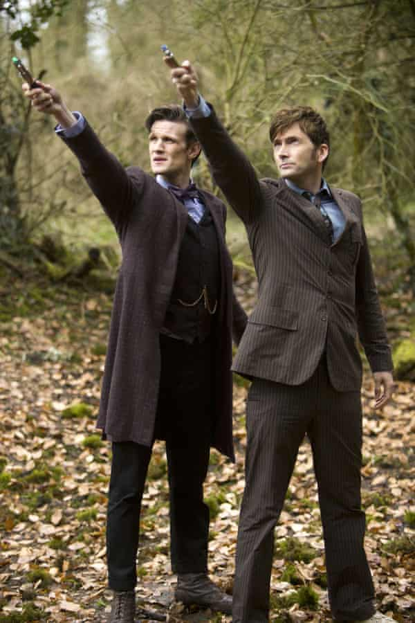Matt Smith and David Tennant in The Day of the Doctor – one of Moffat's classic episodes.
