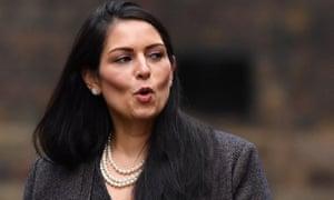Priti Patel in Downing Street