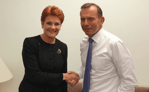 Pauline Hanson and Tony Abbott