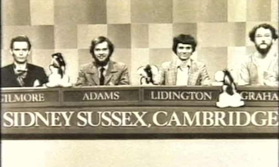 David Lidington and the Sidney Sussex Cambridge team on University Challenge.