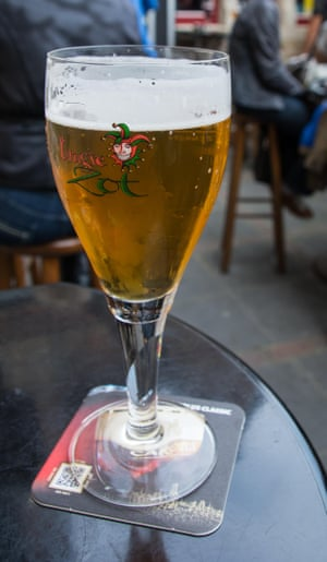 A glass of Brugse Zot,