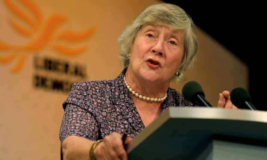 Shirley Williams at the Liberal Democrat party conference in 2001.