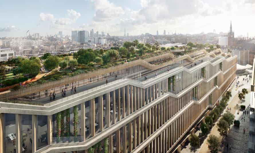 A render of Google's new London headquarters in King's Cross