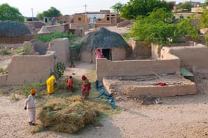 A village near Jaisalmer, Rajasthan, India
