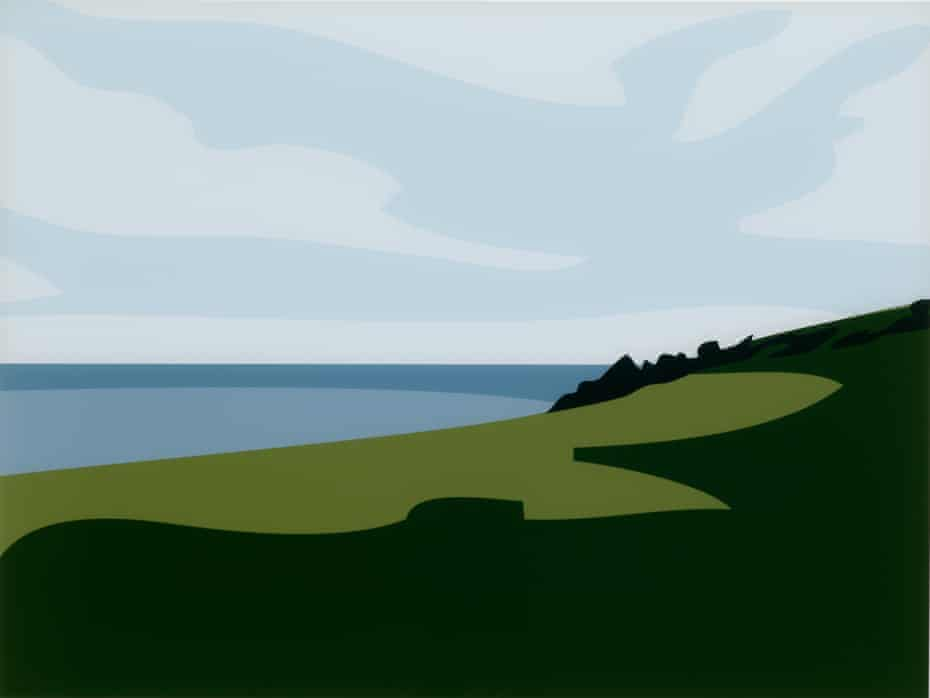 'Beauty means that you can hold it in your eyes' … Julian Opie's Lantivet Coast; from: Cornish Coast 1.