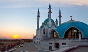 View from the Kremlin fortress in Kazan, Russia