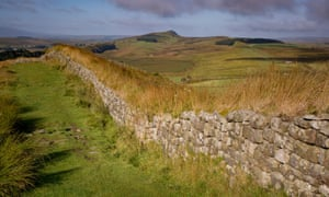 Dawn at Hadrian's Wall near the Roman fort at Housesteads, Northumberland