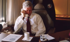 An American crossword, getting solved on Air Force One in 1997