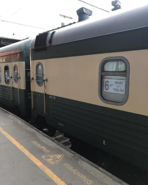 Sleeper train from Tblisi to Baku.