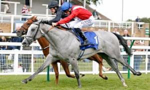 Millisle, far side, is narrowly beaten at Salisbury last week.