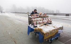 Matryoshka dolls on a barrow