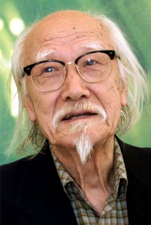 Seijun Suzuki at the Venice film festival in 2001.