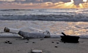 Message in a bottle. Image shot 09/2010. Exact date unknown.
