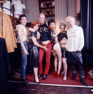 66eec329cb Jordan poses at Vivienne Westwood's Sex shop: 'I'm not sure why I lifted my  top, but it felt right'