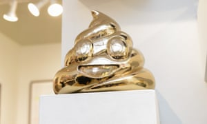 The shape of things to come? A poop emoji sculpture on sale at the Affordable Art Fair in New York this year.