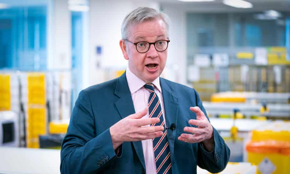 The Cabinet Office minister Michael Gove.