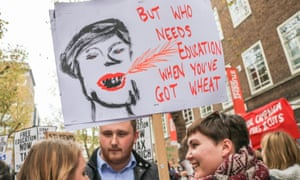 A student placard at a protest