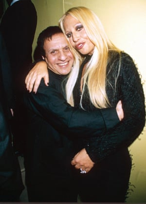 """Alaia was always friends with other designers - and their work. Donatella Versace, pictured here, described the designer an """"indisputable genius""""."""