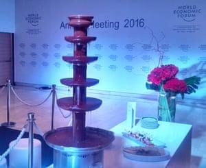 Davos chocolate fountain